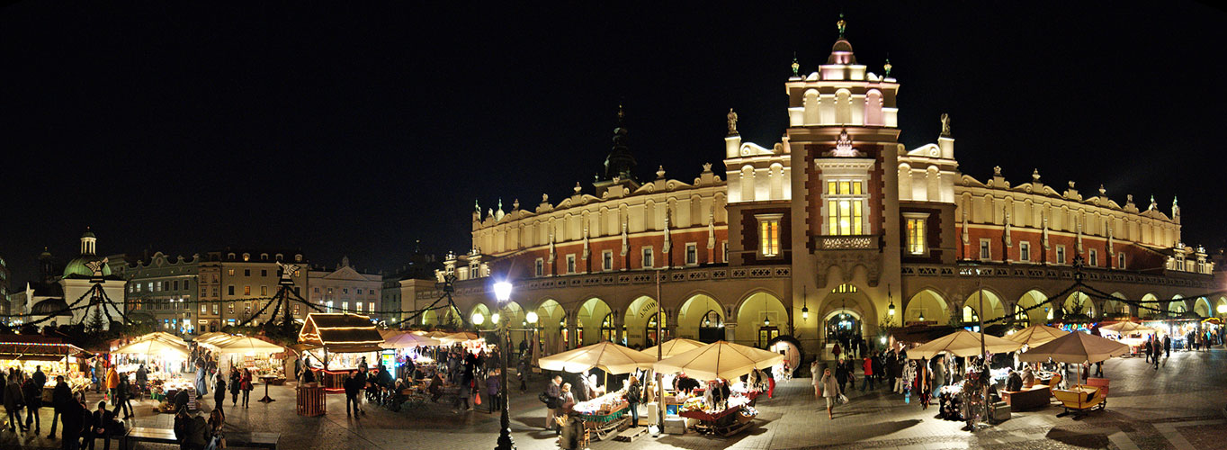 Weather in Krakow is the most encouraging during summer and winter. In December, you will have opportunity to see all the Main Square filled with stalls selling christmas presents.